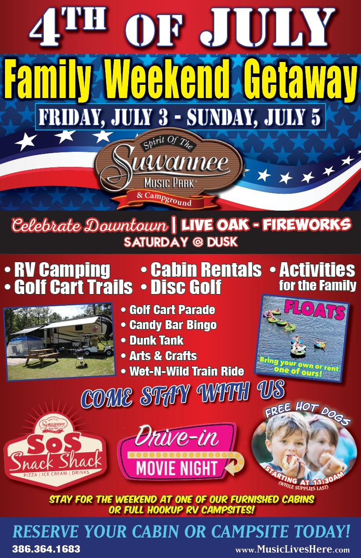 July 4th - Weekend Getaway 2020